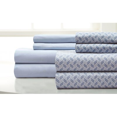 Maglio Fletch 8 Piece Microfiber Sheet Set Size: Full, Color: Blue Coral