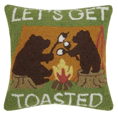 Throggs Lets Get Toasted Bears Throw Pillow