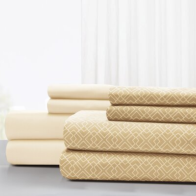 Magill Microfiber Sheet Set Size: King, Color: Light Sand