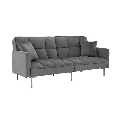 Geary Plush Modern Sleeper Upholstery: Dark Gray