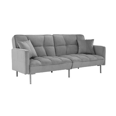 Geary Plush Modern Sleeper Upholstery: Light Gray