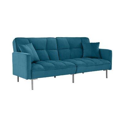 Geary Plush Modern Sleeper Upholstery: Sky Blue