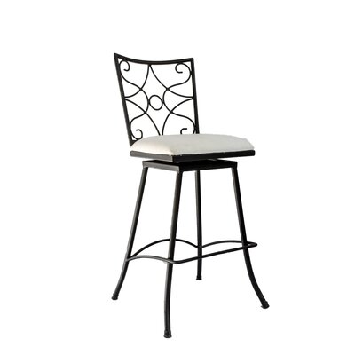 Chatou Iron 30 Swivel Bar Stool Color: White