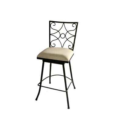 Chatou Iron 30 Swivel Bar Stool Color: Beige