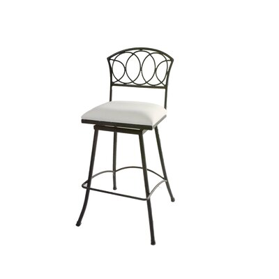 Chau Iron 30 Swivel Bar Stool Color: White