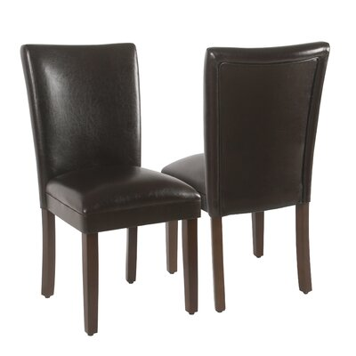 Kelm Upholstered Dining Chair Upholstery: Brown