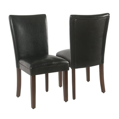 Kelm Upholstered Dining Chair Upholstery: Black