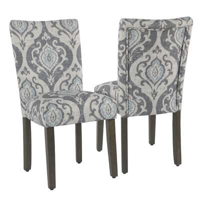 Neena Upholstered Dining Chair Upholstery Color: Gray/Light Blue