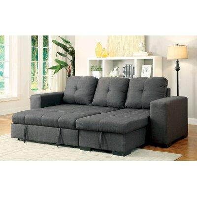 Sepanek Reversible Sleeper Sectional Upholstery: Gray