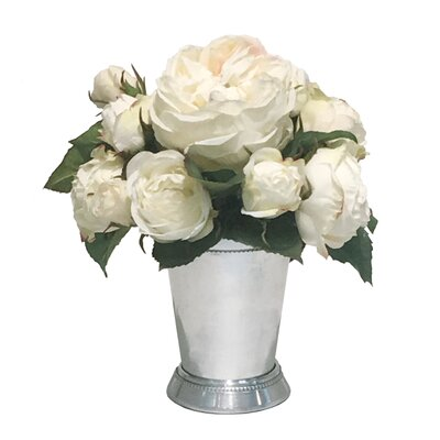 Mix Rose Centerpiece in Julep Cup 58A06B8CE551426586A77D27C87F6F01
