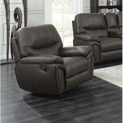 Quance Manual Rocker Recliner Upholstery: Dark Chocolate