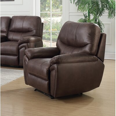 Quance Power Recliner Upholstery: Dark Chocolate