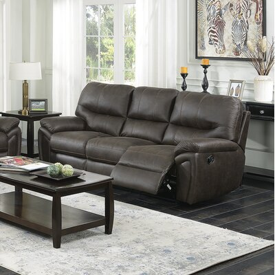Quance Reclining Sofa Upholstery: Dark Chocolate