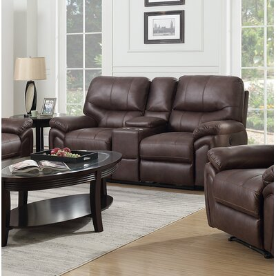 Quance Reclining Loveseat Upholstery: Dark Chocolate