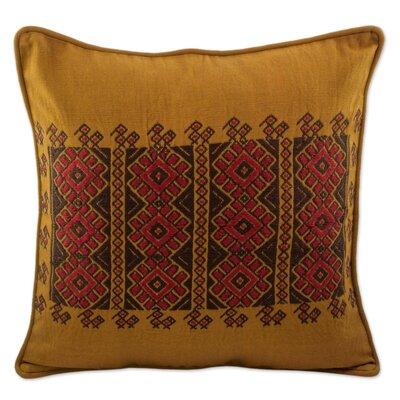 Mccorkle Guatemala Mountain Sun Cotton Pillow Cover