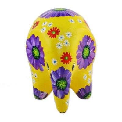 Mcbrayer Thai Elephant Flower Ceramic Figurine 81093C160FB648CA9A627274A914AAEA