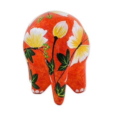 Mcbroom Thai Elephant Butterfly Ceramic Figurine 28B1121F87C14027B4F8824DAD9B667A
