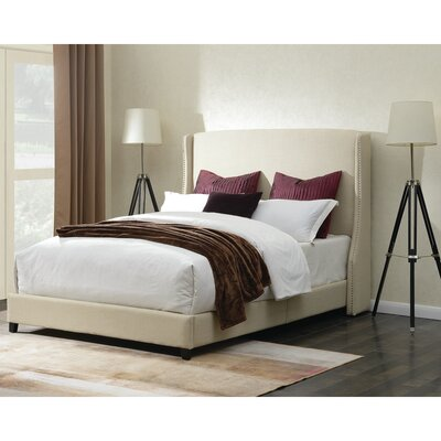 Dressler Queen Upholstered Platform Bed Color: Natural