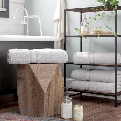 Briele Quick Dry Zero Twist Cotton Bath Towels Color: Glacier Gray