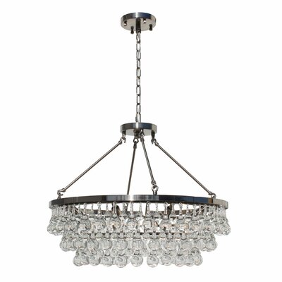 Whitham 8-Light Crystal Chandelier Finish: Brushed Nickel