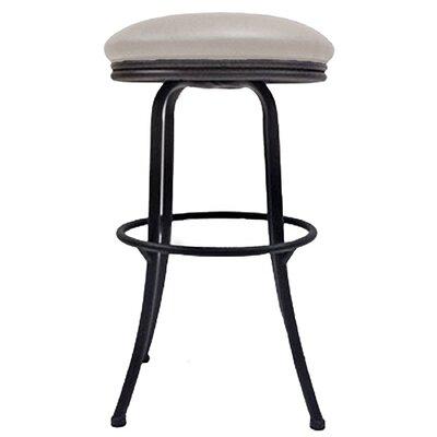 Podington 33 Swivel Bar Stool Frame Color: Black, Seat Color: Ocean Beige