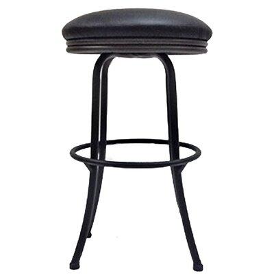 Podington 26 Swivel Bar Stool Frame Color: Black, Seat Color: Ebony