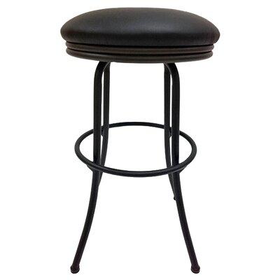 Podington 35 Swivel Bar Stool Frame Color: Black, Seat Color: Ebony