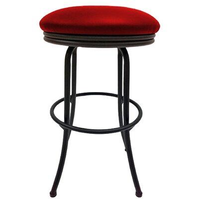 Podington 33 Swivel Bar Stool Frame Color: Black, Seat Color: Fire Red