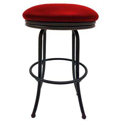 Podington 26 Swivel Bar Stool Frame Color: Black, Seat Color: Fire Red