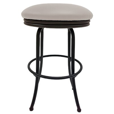 Podington 26 Swivel Bar Stool Frame Color: Black, Seat Color: Ocean Beige