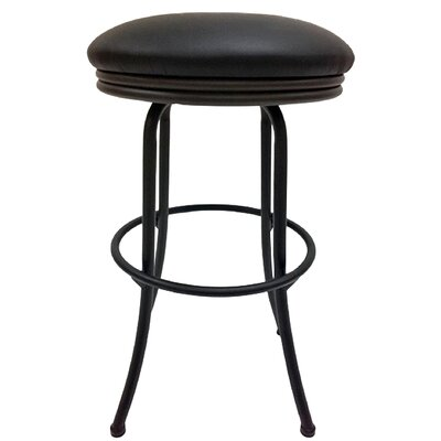 Podington 33 Swivel Bar Stool Frame Color: Black, Seat Color: Ebony