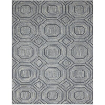 Weesner Hand-Woven Wool Gray Area Rug Rug Size: Rectangle 2 x 3