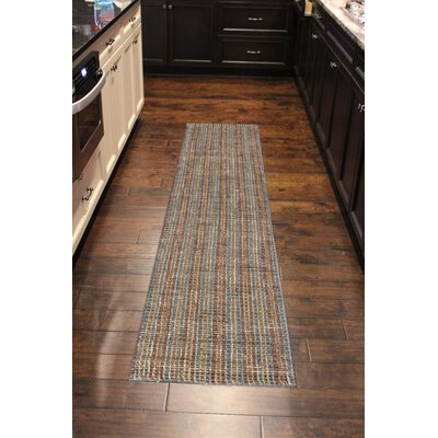 Koleby Striped Hand-Woven Brown Area Rug Rug Size: Runner 23 x 8
