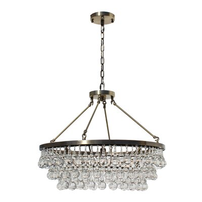 Whitham 8-Light Crystal Chandelier Finish: Antique Brass