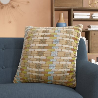 Lanesville Jacquard Geometric Toss Throw Pillow Color: Mocha