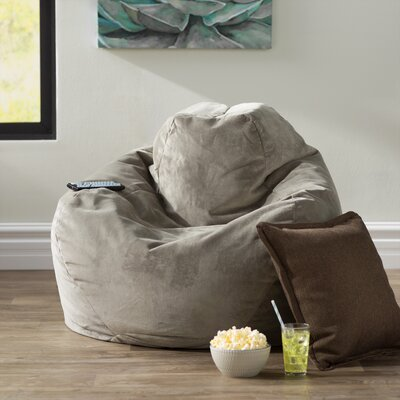 Soft Sided Bean Bag Lounger Upholstery: Gray