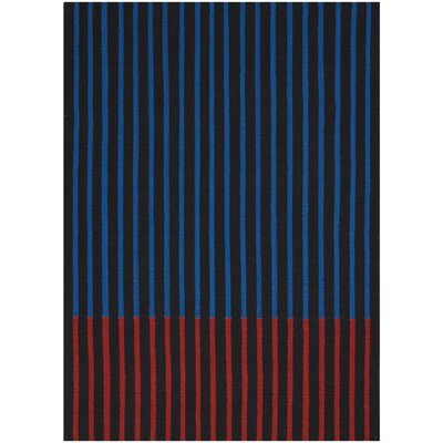 Nashville Modern Hand-Woven Black/Cobalt/Magenta Area Rug Rug Size: Rectangle 8 x 10
