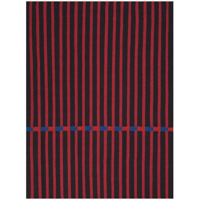 Nashville Modern Hand-Woven Magenta Area Rug Rug Size: Rectangle 8 x 10