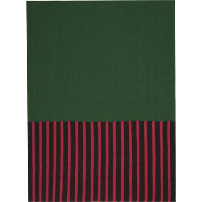 Nashville Modern Hand-Woven Green/Magenta/Black Area Rug Rug Size: Rectangle 5 x 7