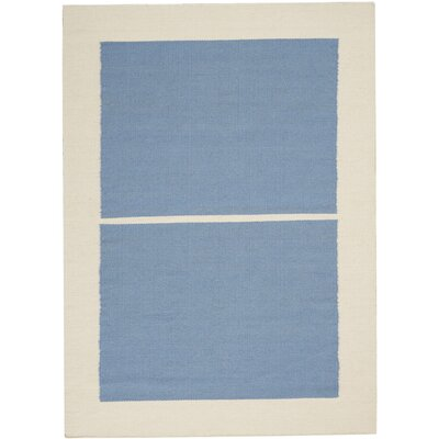 Nashville Modern Hand-Woven Light Blue/Ivory Area Rug Rug Size: Rectangle 4 x 6