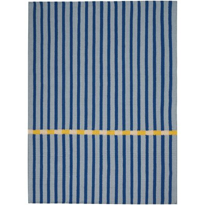 Nashville Modern Hand-Woven Blue Area Rug Rug Size: Rectangle 5 x 7