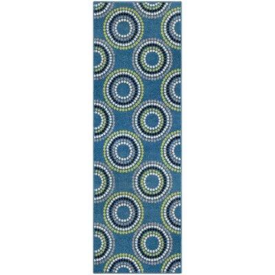 Caldello Designer Blue/Green Area Rug Rug Size: Runner 27 x 8