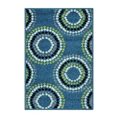 Caldello Designer Blue/Green Area Rug Rug Size: Rectangle 2 x 3