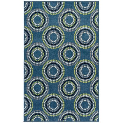 Caldello Designer Blue/Green Area Rug Rug Size: Rectangle 4 x 6