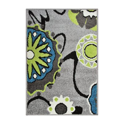 Caldello Designer Gray/Green Area Rug Rug Size: Rectangle 2 x 3
