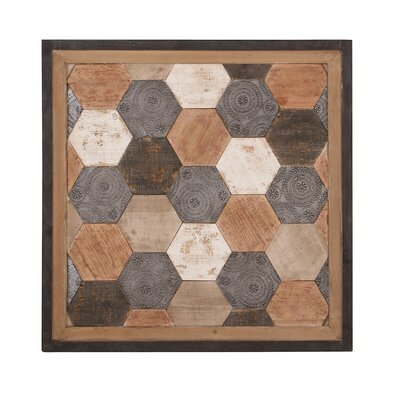 Rustic Wood Hexagon Wall Decor