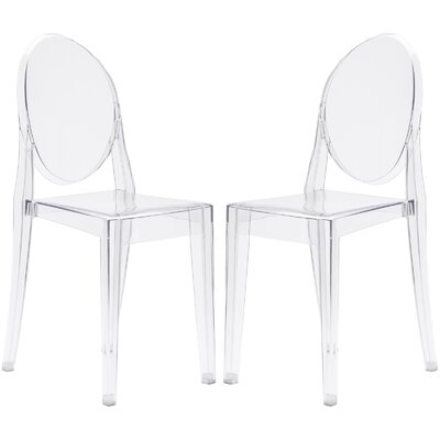 Bentlee Dining Chair Color: Clear