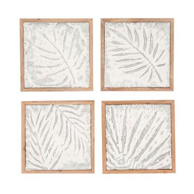 Goodfellow 4 Piece Wood Leaf Wall Decor Set