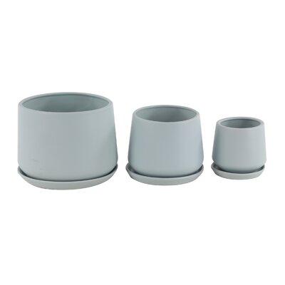 Palazzolo Modern 3-Piece Ceramic Pot Planter Set