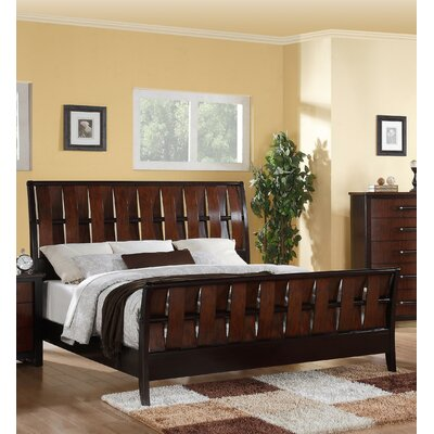 Brander Weave Pattern Panel Bed Size: King